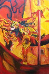 Nenet Vlachaki, Brazilian Dancer, oil on canvas, 70 x 100 cm