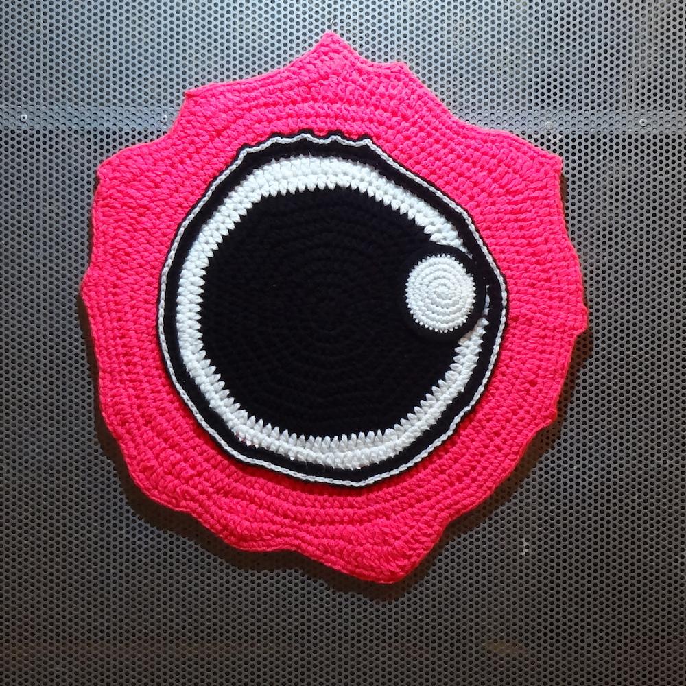 Nenet Vlachaki, Fish Eye No 1, 2017,crochet textile art