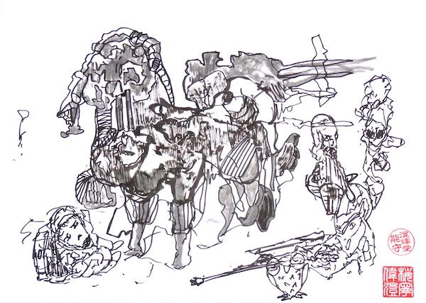 Odys S. Stylianos, Ink 0005, 21.0 x 29.7 cm