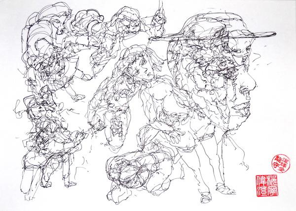 Odys S. Stylianos, Ink 0011, 21.0 x 29.7 cm