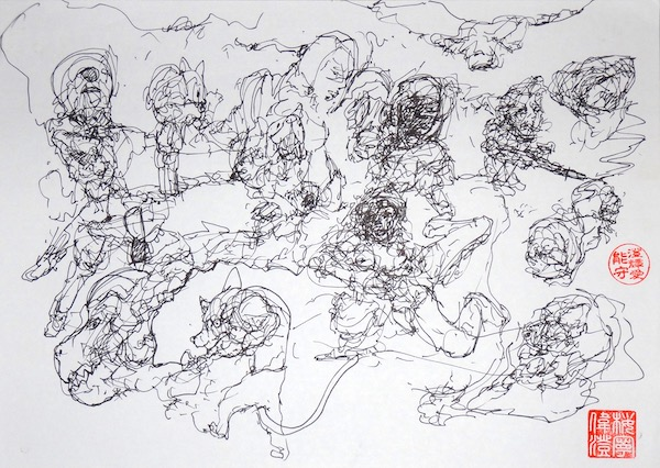 Odys S. Stylianos, Ink 0016, 21.0 x 29.7 cm