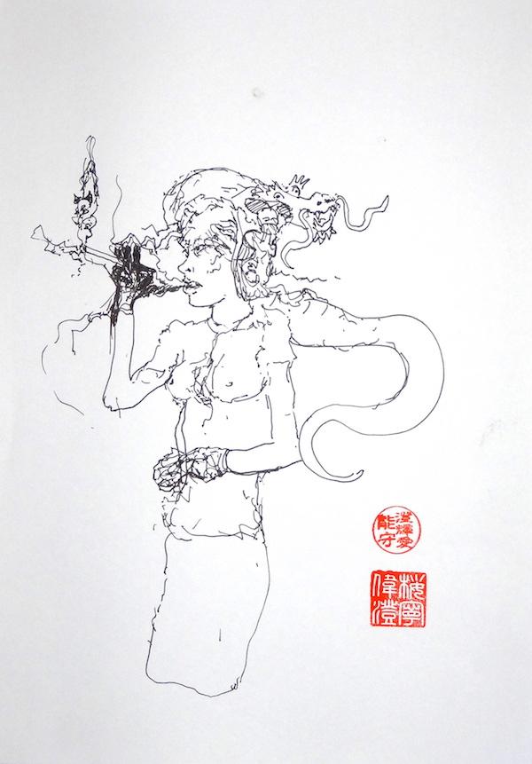 Odys S. Stylianos, Ink 0021, 21.0 x 29.7 cm